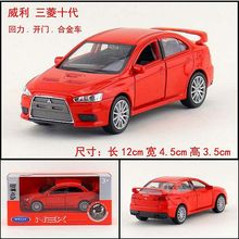 1:36 11.5cm new Welly Mitsubishi Lancer Ten generations EVO car alloy vehicle model pull back cool boy birthday toy