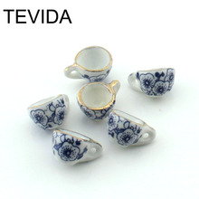 Free shipping 20pcs/lot mini Ceramic Bead Porcelain cup flagon Teapot diy for earrings chain beads DiY for Jewelry Findings(China)