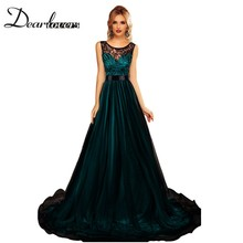 Dear lover Robe Longue Femme Soiree Sheer Lace Mesh Overlay Blue Queen Floor Length Long Maxi Dress Elegant Party Gown LC61161