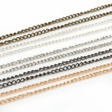 5m/lot Rhodium/Silver/Gold/GunMetal/Bronze Metal Plated Necklace Chains Fitting For DIY Necklace Bracelets Jewelry Making