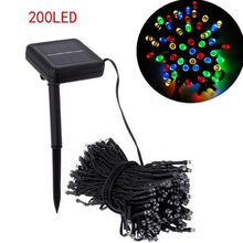 56ft Solar Powered 200 LED String Fairy Light Waterproof Xmas Holiday light outdoor decor lamp for party wedding garden P20