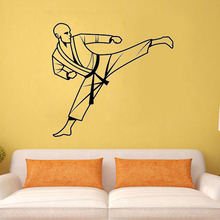 ZOOYOO Karate Wall Decal Vinyl Sticker Art Decor Bedroom Design Mural Martial Arts Home Decor Room Decoration Wallpaper(China)
