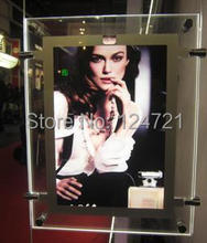 Double sided custom led poster frames,Thin acrylic advertising led lightbox,Backlight advertising Light boxes led 2pcs/lot