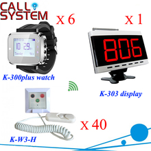 Hospital nurse calling system 1 counter monitor 6 wrist pager 40 panic button for washing room elderly use(China)