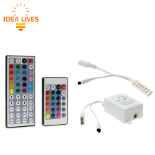 LED RGB Controller DC12V Mini 44/24 Key IR Remote Controller For 3528 5050 RGB LED Strip Lights