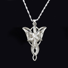 Ocean silver the lord of the film Arwen Evenstar Arwen The fairy princess Twilight star 5*3cm Pendant Necklace for women factory