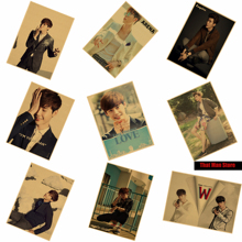 LeeJongSuk Girls like Korea Popular actor model core Kraft Paper Poster Wall Decorative Paintings Great gift  42X30cm