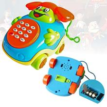 Musical Educational Cartoon Phone ACG Developmental Music Toy for Baby Kids A676(China)