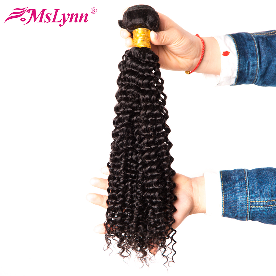 Mslynn Afro Kinky Curly Hair Weave Human Hair Bundles Peruvian Hair