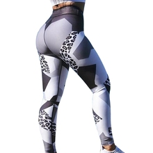 2017 Fashion Women Leggings Leopard Printing leggins Slim High Waist Elasticity Leggings Woman Pants Leggings(China)