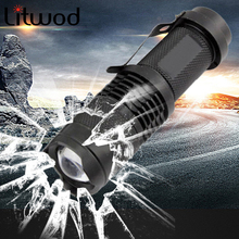 z25 Mini penlight 2000LM Waterproof LED Flashlight Torch 3 Modes zoomable Adjustable Focus Lantern Portable Light use