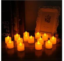 Led Flameless Tea Candles Light LED Tealight Night light for Wedding Birthday Party Christmas Safety Home Decoration