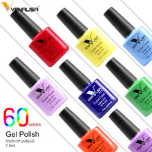 VENALISA Organic Odorless Gel Varnish Enamal 60 Colors CANNI Nail Art Design French Tip DIY Manicure Soak off UV Gel Nail Polish(China)