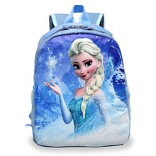 Hot kids cartoon snow queen schoolbag girls boys cute printed princess backpacks children's Dora book bags many designs BB0049