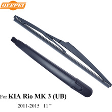 QEEPEI Rear Wiper Blade & Arm For KIA Rio MK 3 (UB) 5-door hatchback 2011-2015 11'' Car Accessories For Auto Wipers,RKA15-3C
