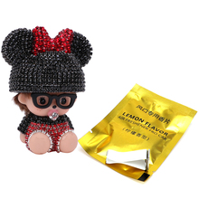 Car Air Condition Vent Decoration Car-Styling Outlet Perfumes Diamond Jewelry Export Doll Cute 100 Original Car Air Freshener(China)