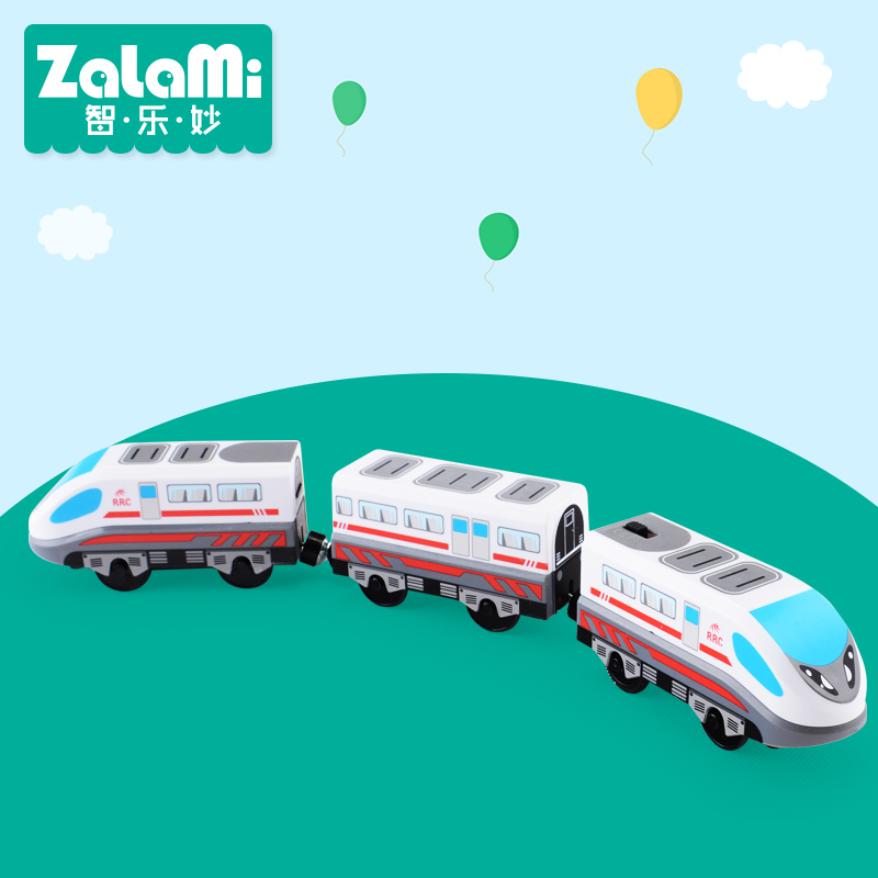 Zalami Electric Railroad Train Set Education Toy Railway Truck High Speed Three-Train toys 2017NEW(China)