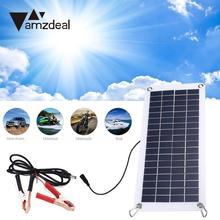 amzdeal Portable Lightweight 18V 10.5W Polysilicon Solar Panel Charger For Car Boat Outdoor Travel Powerbank DIY Module Charging(China)