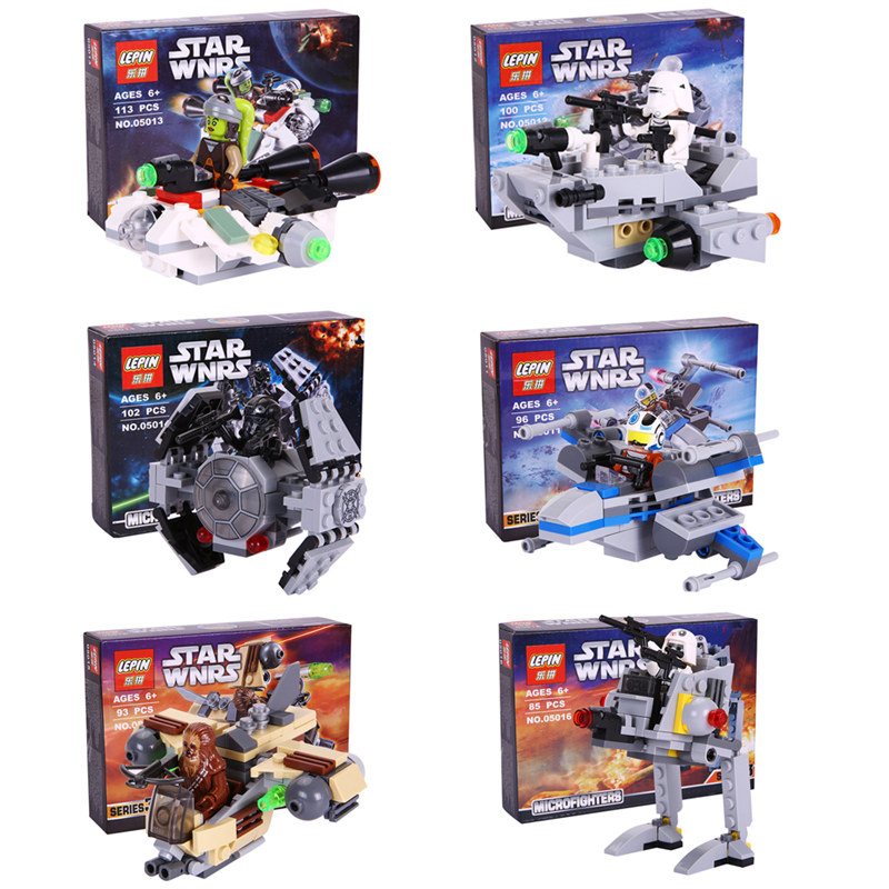 2016 LEPIN Star Wars Warship Spaceship Microfighters Building Blocks Model Mini Set Toys Compatible Legoes Starwars<br><br>Aliexpress