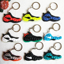 Mini Silicone Jordan Foamposites Keychain Bag Charm Woman Key Ring Gifts Sneaker Key Holder Pendant Accessories Shoes Key Chain(China)