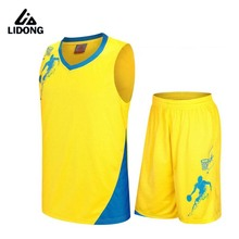 2017 Kids Basketball Jersey Sets Uniforms kits Child Sports clothing Breathable Youth basketball jerseys shorts DIY printing(China)