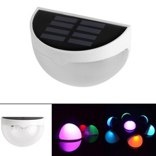 LED Solar Power Light Sensor Wall Light Outdoor Waterproof Energy Saving Yard Path Garden Security Lamp 7 Colors Changing