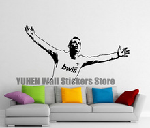 Ronaldo CR7 Wall Stickers Football Players Appellies Boys Girls Bedroom Labels Vinyl Removal Art Decorative Wallpapers