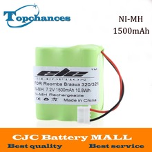 High Quality 7.2V 1500mAh Ni-MH  Rechargeable Vacuum Cleaner Battery for iRobot Braava 320 321 & Mint 4200 4205