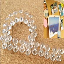 40pcs/lot Brand New Best Price Transparent Decorative Push Pins Thumbtacks Steel Point Bulletin Board Office School Supplies(China)