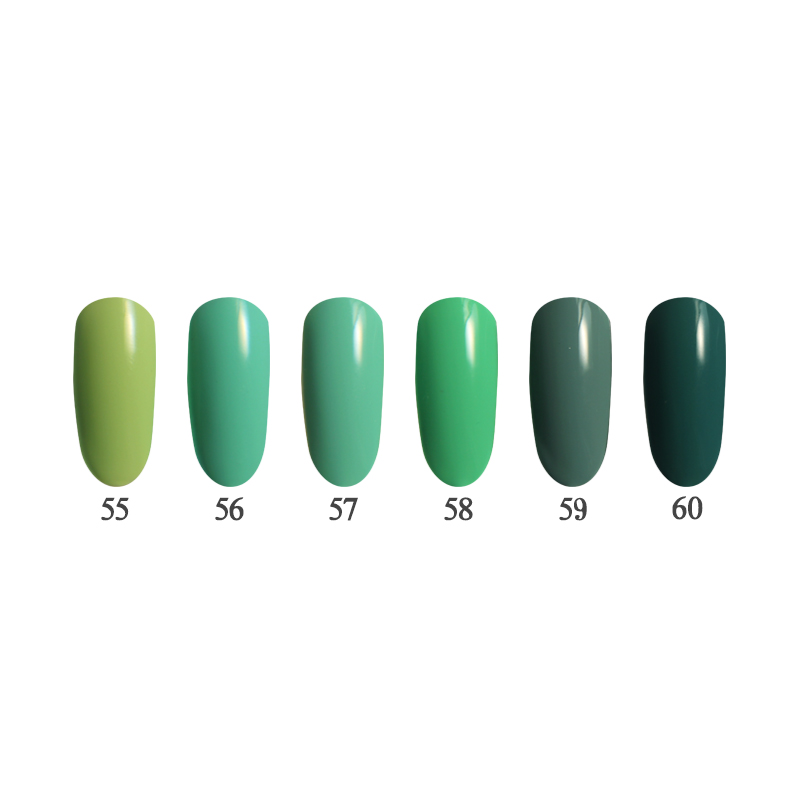 6PCS 12ml 3 steps Nail Gel Kit UV/LED suitable for salon and do it at home QBEKA 55~60 Matcha<br>