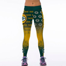 New Women Sporting Leggings 3D Printing American Footballs Style Printed Womens Fitness Gymnastics Legging Leggins Workout Pants(China)