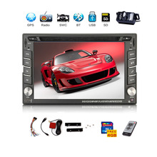 USA Stock+Free Camera 6.2 '' 2 din GPS Navigation Car DVD CD Video Player HD Touch Screen Car Stereo Audio FM AM Radio Bluetooth(China)