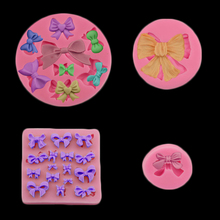 Formas De Silicone 3d Mini Bowknot Silicone Molds Wedding Cake Decorations Chocolate Fudge Mold Kitchen Baking Tools(China)