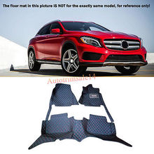 Floor Mats & Carpets Foot Pads Protector Mercedes Benz GLA X156 2015 2016 - Auto-Parts store
