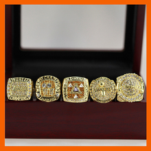 2000 2001 2002 2009 2010 LOS ANGELES LAKERS WORLD CHAMPIONSHIP RING, 5 PCS RING SET COLLECTION WITH WOODEN BOX