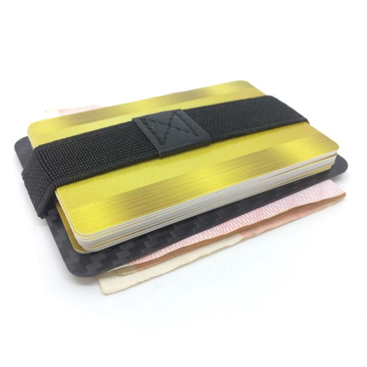 Genuine Carbon Fiber Glossy Flat Money Clip Credit Card Business Card Holder  (17)