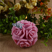Wholesale - LZ0105 3D Rose Flower Ball /Candle Crafts Molds,Home Decoration Mould DIY Soap Candle Crafts Mould Reisn,Clay Form