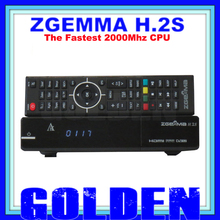 20pcs ZGEMMA-STAR Dual core CPU Digital satellite tv receiver ZGEMMA STAR H.2S Twin tuner DVB-S2 & S with iptv function DVB S2