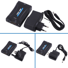 Video Switcher 1080P SCART To HDMI Converter Video Audio Signal Adapter HD With EU/US/UK Charger Adapter