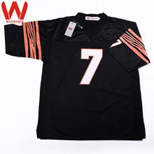 WENWUBIN Mens #7 Boomer Esiason Embroidered Throwback Football Jersey