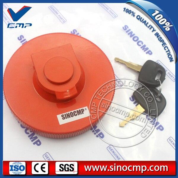 SINOCMP Fuel Tank Cover for Hyundai Excavator Fuel Tank Cap Parts 3 Month Warranty