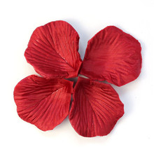 Wholesale 200pcs Red Non-woven fabric Flower Rose Petals Party Romantic Wedding Decorations Favor Fake Flower Recycled feb20(China)