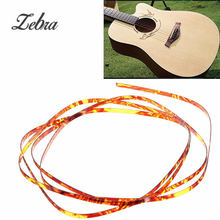 Zebra 1650 x 5 x 1.5 mm Celluloid Guitar Binding Purfling Strip Plastic For Acoustic Classic Guitar Decor Guitar Parts