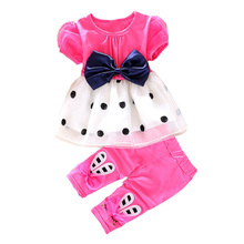 BibiCola summer baby girls clothing sets toddler girls fashion summer set 2pcs tops +pants kids girl sport suit tracksuit set