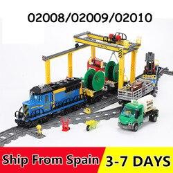 02008 02009 02010 город грузовой поезд серии строительные блоки с мотором пульт дистанционного управления совместим 60052 60098 60051