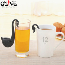 Plastic Tea Infusers Swan Note Tea Strainer Sieve Filter Coffee Mesh Teaball Teabag For Puer Oolong Da Hong Pao Tieguanyin(China)