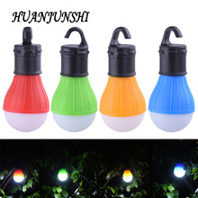 Portable outdoor Hanging 3LED Camping Lantern Soft Light LED Camp Lights Bulb Lamp For Camping Tent Fishing 4 Colors AAA Battery(China)
