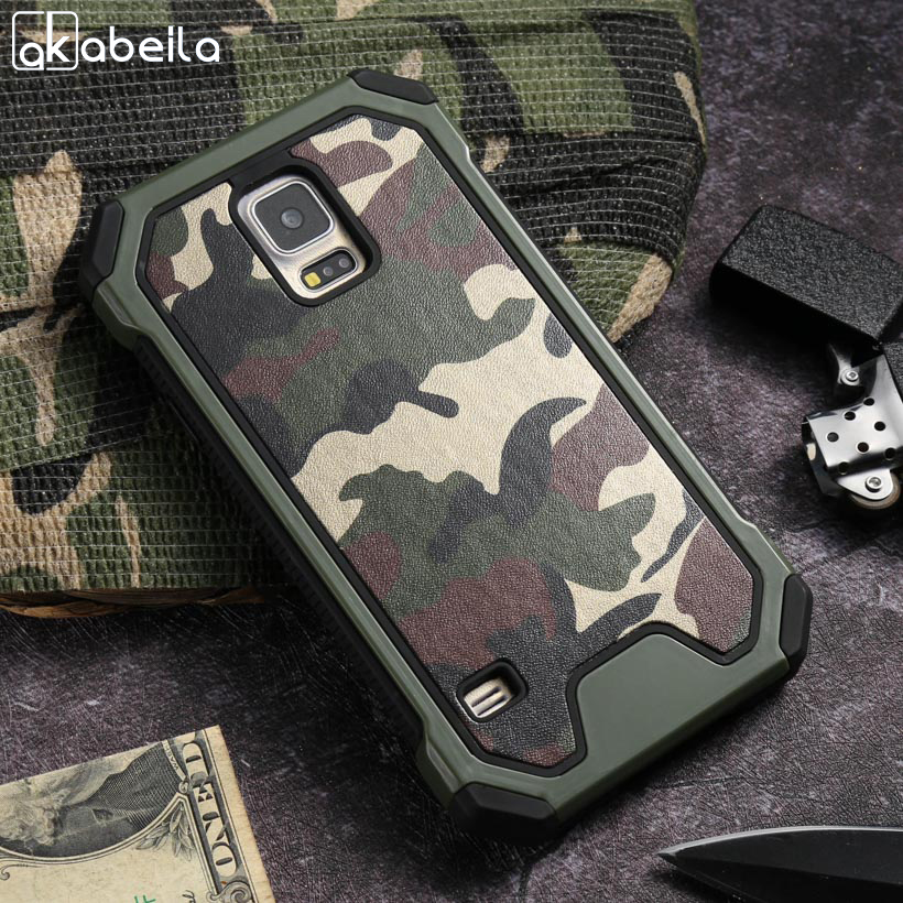 Mobile Phone Case For Samsung Galaxy NoteIII Case PC + TPU Plastic Shell Army Armor Camo Phone Back Cover N9000 Note3 N9005 Capa(China)