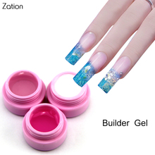 Zation Extended Nail Gel Manicure False Nail Tips Crystal Gel French Nail Art Polish UV Builder Gel Pink White Clear Gel Varnish(China)