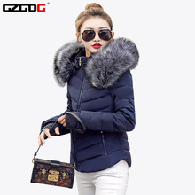 Fake raccoon fur collar parka down cotton jacket  Winter Jacket Women thick Snow Wear Coat Lady Clothing Female Jackets Parkas